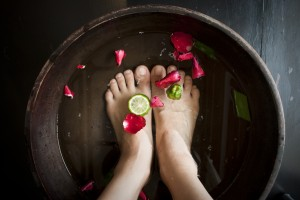 Relaxing foot therapy